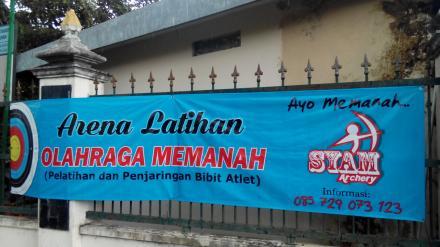 Gedung Serbaguna Balai Desa Bawuran sebagai Arena Latihan Olahraga Memanah