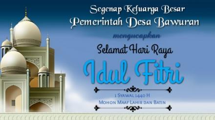 Selamat Hari Raya Idul Fitri 1440 Hijriyah Tahun 2019